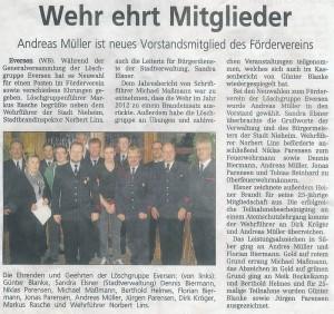 Generalversammlung FW 2013